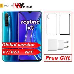 Realme xt глобальная версия мобильного телефона 6,4 ''полный экран Snapdragon 712 AIE 64MP камера NFC OPPO мобильный телефон VOOC