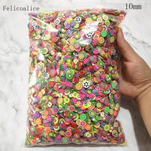 1kg 10mm Slices Slide Charms for Slime Supplies Kit Fluffy Slime Fruit Polymer Clear Slime Accessories Putty Clay Nail Art