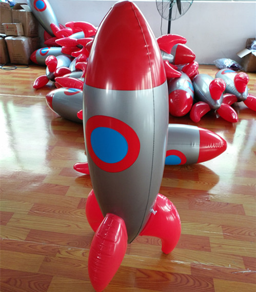 New Thick Inflatable Toy Rocket Missile Gift Simulation Stage Decoration Props Children Show Model 2020