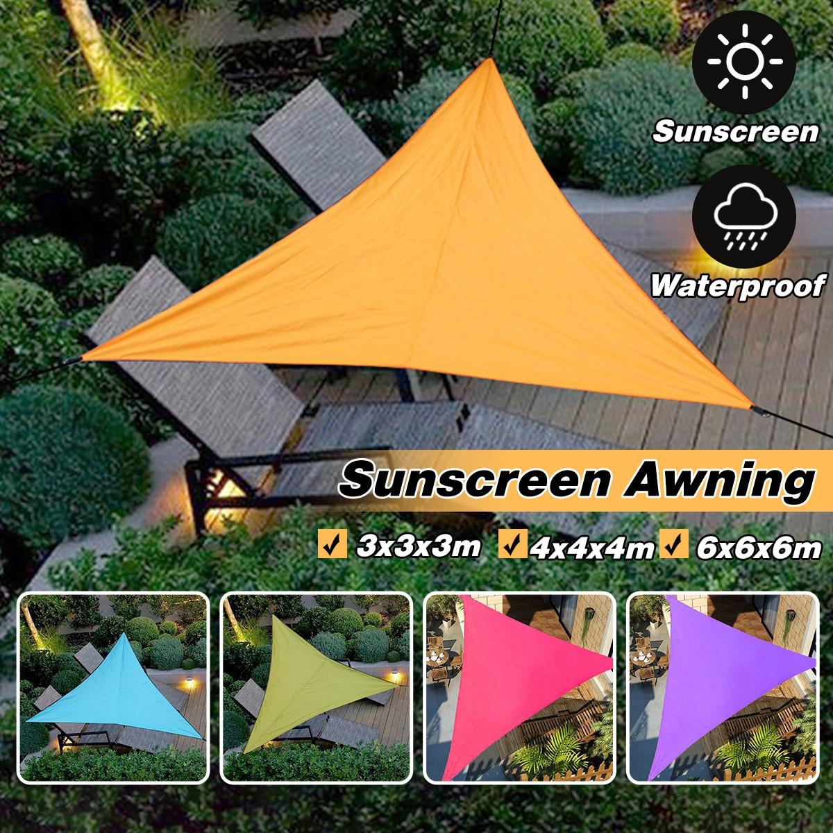 Summer Heavy Shade Sail Sun Canopy Cover Outdoor Trilateral Garden Yard Awnings Waterproof Car Sunshade Cloth