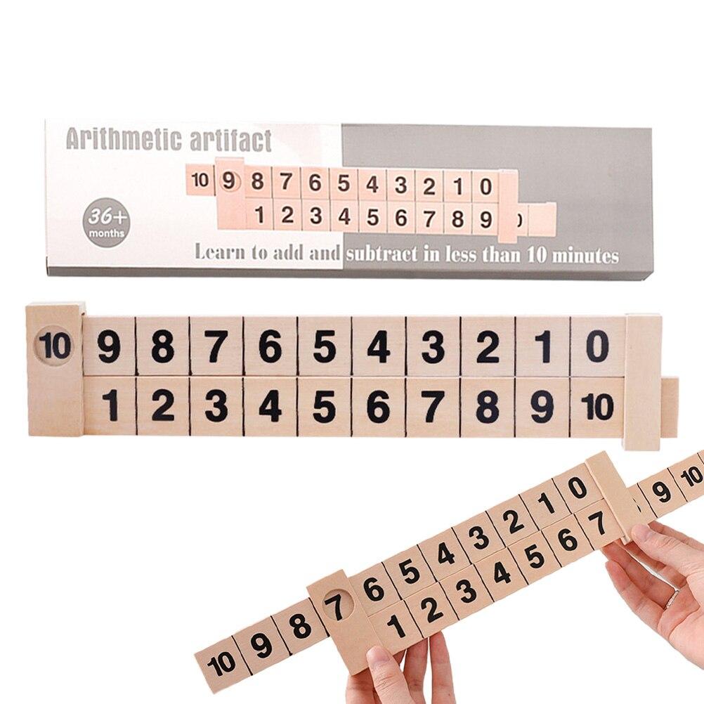 Régua de madeira arithmetica para crianças, brinquedo educativo infantil para aprendizagem 20 20