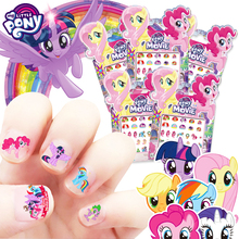 My Little Pony Unicorn Nail Sticker Children Baby Kids Makeup Toy Princess Elsa Anna Sofia Snow White Mickey Minnie Sticker Gift