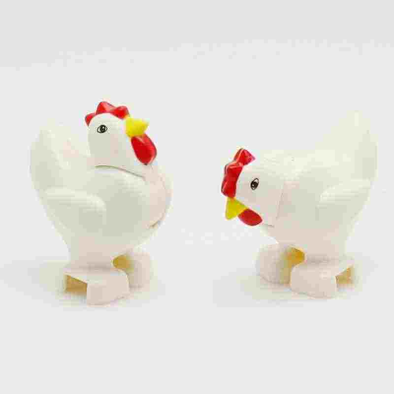Legoing Duplo Farm Animals Chicken Accessories Building Blocks Baby Toys for Children Compatible With Legoings Duploe Parts Gift
