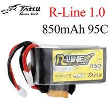 Tattu R-Line 1,0 LiPo 850mah 11,1 V 14,8 V 95C 3S 4S1P Lipo аккумулятор с штепсельной вилкой XT60 для RC FPV Racing Drone Quadcopter