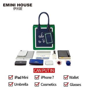 Image 4 - EMINI HOUSE Paris Series Tote Bag Split Leather Crossbody Bags For Women Shoulder Bags Luxury Handbags Women Bags Designer
