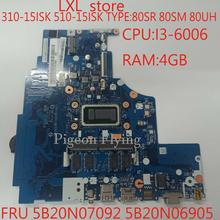 NM A752 for ideapad laptop 310 15ISK 510 15ISK motherboard Mainboard 80SR 80SM 80UH CPU I3
