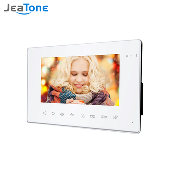 smartyiba 7 inch color display work for video intercom speakerphone system lcd tft hand free indoor monitor unit support unlock Jeatone 7 Inch Indoor Monitor for Video Door Phone Doorbell Intercom System Video Record Taking Day Night Vision White Monitor