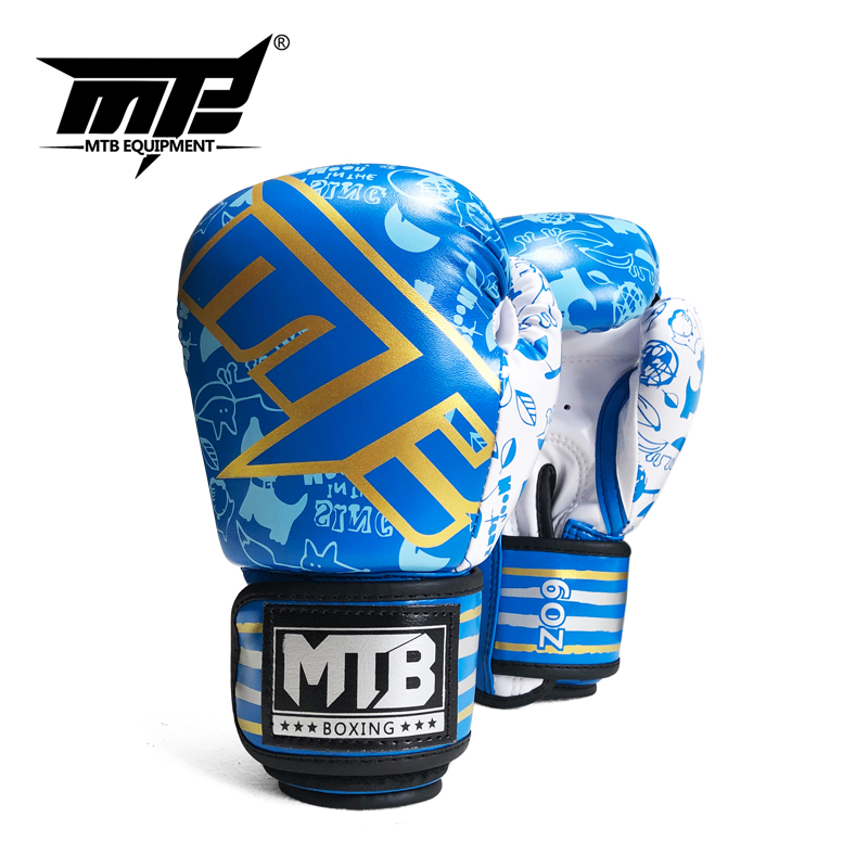 1 Pair Boxing Gloves Kids Training Fighting Gloves Flame Muay Thai Sparring Punching Kick boxing Breathable PU Gloves Mitts 2021