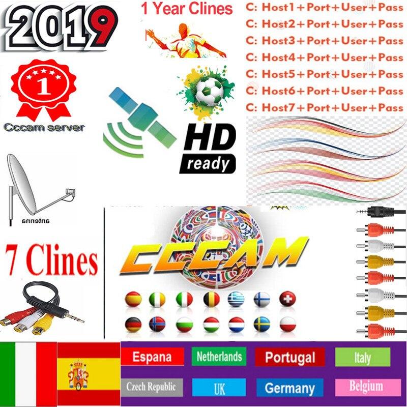 1 Year CCcams Europe Cline Card SharingServer Mgcam  Cline For VU+ Samsat Starsat Satellite TV Receiver Via Usb Wifi