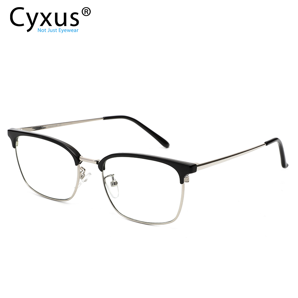 Cyxus Anti Blue Light Computer Glasses for Eye Strain Relief TR90 Half Frame Clear Lens Women Men Unisex Eyewear <font><b>8051</b></font> 8052 image