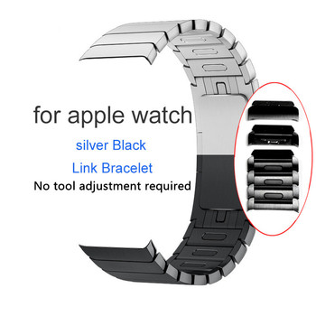 luxury stainless steel watch strap for apple watch band 42mm 38mm link bracelet band for iwatch 4 bands 44mm 40mm series 3 2 1 Metal Stainless Steel Strap For Apple Watch 4 3 2 Removable Link Bracelet for iWatch Series Band 42mm 38mm Bands 44mm 40mm Strap