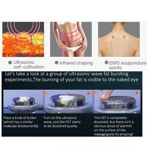 Image 2 - 3 в 1 EMS для лифтинга лица инфракрасный ультразвуковой массажер для тела ультразвуковое устройство для похудения сжигатель жира кавитационная машина для красоты лица