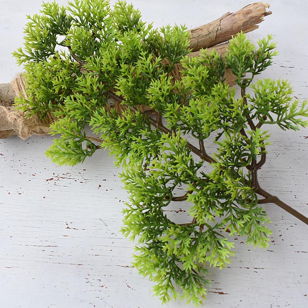 Hot Sale 1Pc Plastic Fake Artificial Pine Cypress Plant Bonsai Garden Home Office Decor