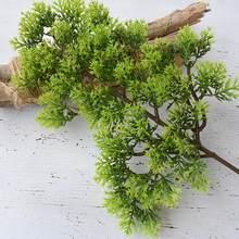 Venda quente 1pc plástico falso pinho artificial cypress planta bonsai jardim decoração de escritório em casa