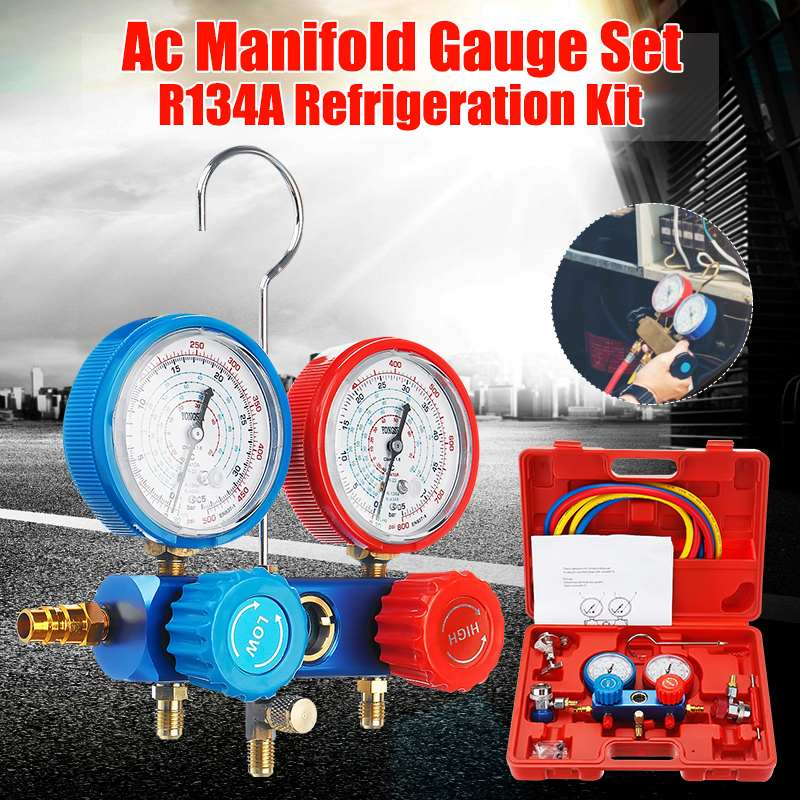 NEW R134A HVAC A/C Refrigeration Kit <font><b>AC</b></font> Manifold Gauge Set Auto Service Kit Car Air Conditioning Repair Fluorine Filling <font><b>Tools</b></font> image