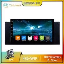 OKNAVI 4G WIFI Android 9.0 Car Video Player For BMW X5 E39 E53 1999-2006 GPS Carplay Stereo 2 din Radio Navigation DSP TPMS 9