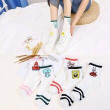5 Pairs Set Ins Style Funny Animal Patterned Women Short Socks Cartoon  Korean Harajuku Cotton Ankle Breathable Cute Sock