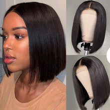 13x4 Short Bob Lace Front Wigs Brazilian Remy Hair Pixie Cut Wig Straight 150% Glueless Lace Front Human Hair Wigs Pre Plucked