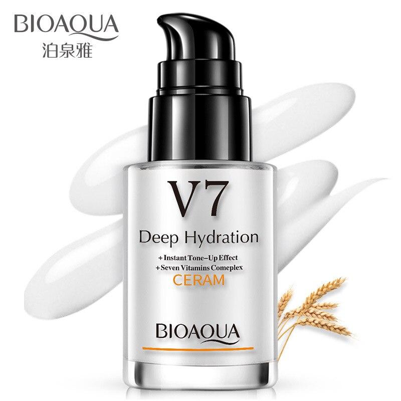Bioaqua V7 Seven Vitamins Deep Hydration Day Creams Moisturizing Face Cream Anti Aging Whitening Brighten Skin Care Smooth