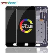 """5.2 """"ORIGINAL Für MEIZU Pro 6 LCD Touch Screen Digitizer Montage Für Meizu Pro 6 Display mit Rahmen Ersatz m570Q M570 M570M"""