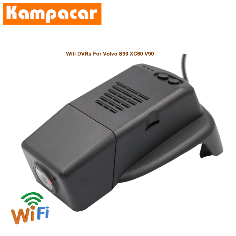 Kampacar <font><b>Car</b></font> Wifi DVR Dash Cameras For Volvo S90 V90 XC60 T4 T5 T6 2018 2019 Auto Video Registrator Wifi <font><b>Car</b></font> <font><b>Dvrs</b></font> Dual Dash Cam image