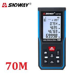 Image 4 - SNDWAY Digital Laser rangefinder distance meter ruler 40M 50M 60M 70M 80M 100M 120M trena finder tape range finder tester Tool