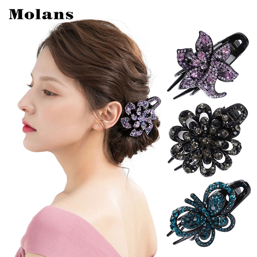 Geometric Large Shiny Women Hair Claws Hair Clip Shiny Crab Jaw Clamp Hairpin