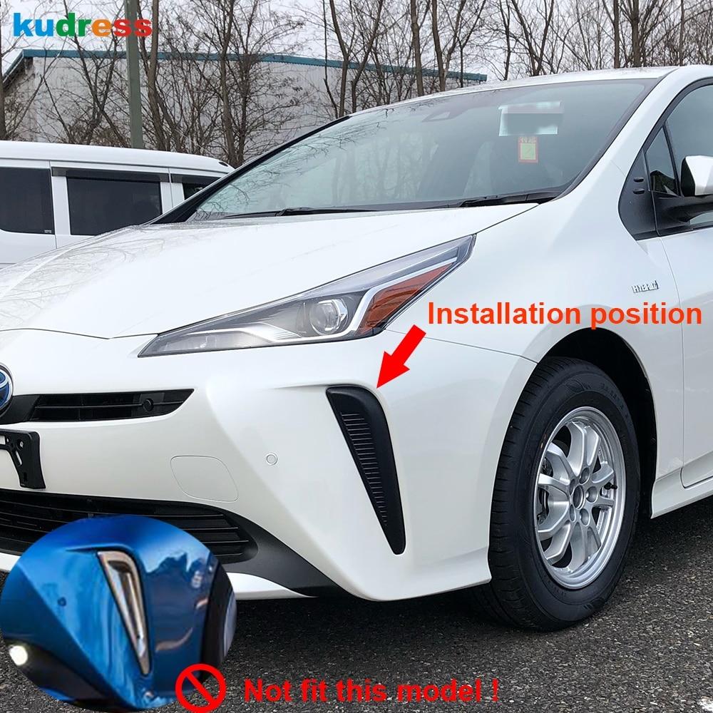 Otomobiller ve Motosikletler'ten Krom Şekillendirici'de Toyota Prius için 2019 2020 Hatchback krom ön sis işık lambası kapak Trim sis işık kaş göz kapağı kalıplama garnitür aksesuarları title=