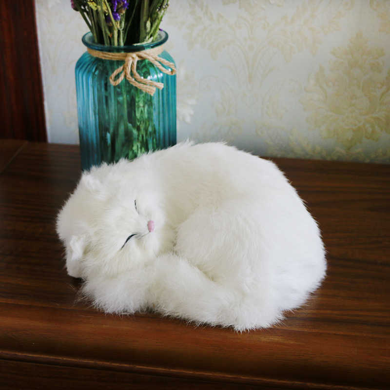 ילדי מינק בפלאש צעצועי שינה חיות כמו בחיים חתול בובות מציאותי סימולציה חתלתול מודלים creative עיצוב הבית ילדים