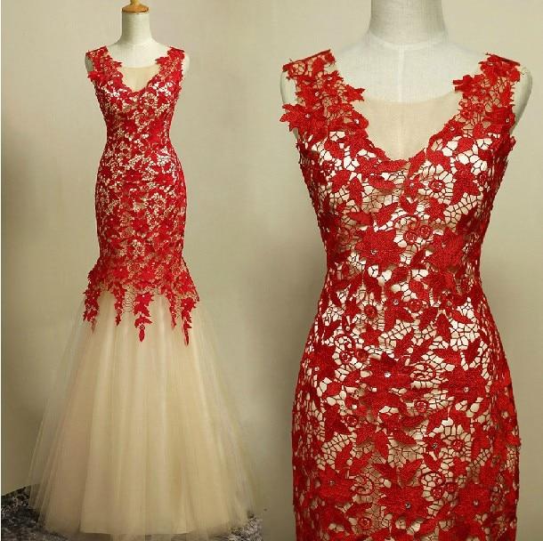 Free Shipping Robe De Soiree Cheap 2019 New Fashion Bride Gown Vestido De Festa Longo Mermaid Lace Formal Bridesmaid Dresses
