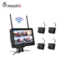 Podofo 7'' Cameras IP69 Waterproof Night Vision Wireless   Reverse Camera  Back Up Camera for Car/SUV/Taxi/Mini Picku
