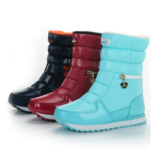 купить Women Boots Non-slip Snow Boots Mid-calf Boots Female Winter Boots Warm Fur Winter Shoes Women Bota Women Booties Botas Mujer дешево