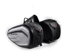 Motorcycle 58L Saddlebags Rear Seat Luggage Large Capacity Multi use Expandable Body & Frame Tank Bag Saddlebags