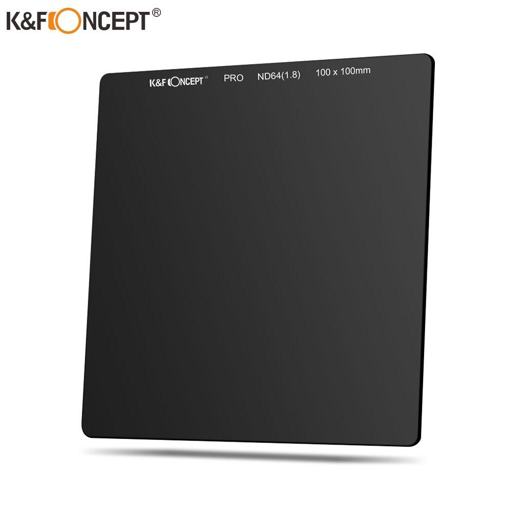 K & F Concept 100 мм ND64 квадратный фильтр Ultra Slim HD 20 Слои набор УФ-фильтров с нейтральной плотностью 6 стоп оптический Стекло MRC покрытие Водонепрони...