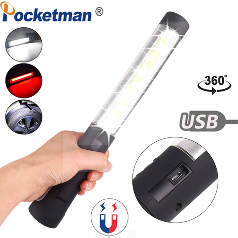 luz de trabalho led luz de trabalho recarregavel cob com base magnetica rotacao 360 e
