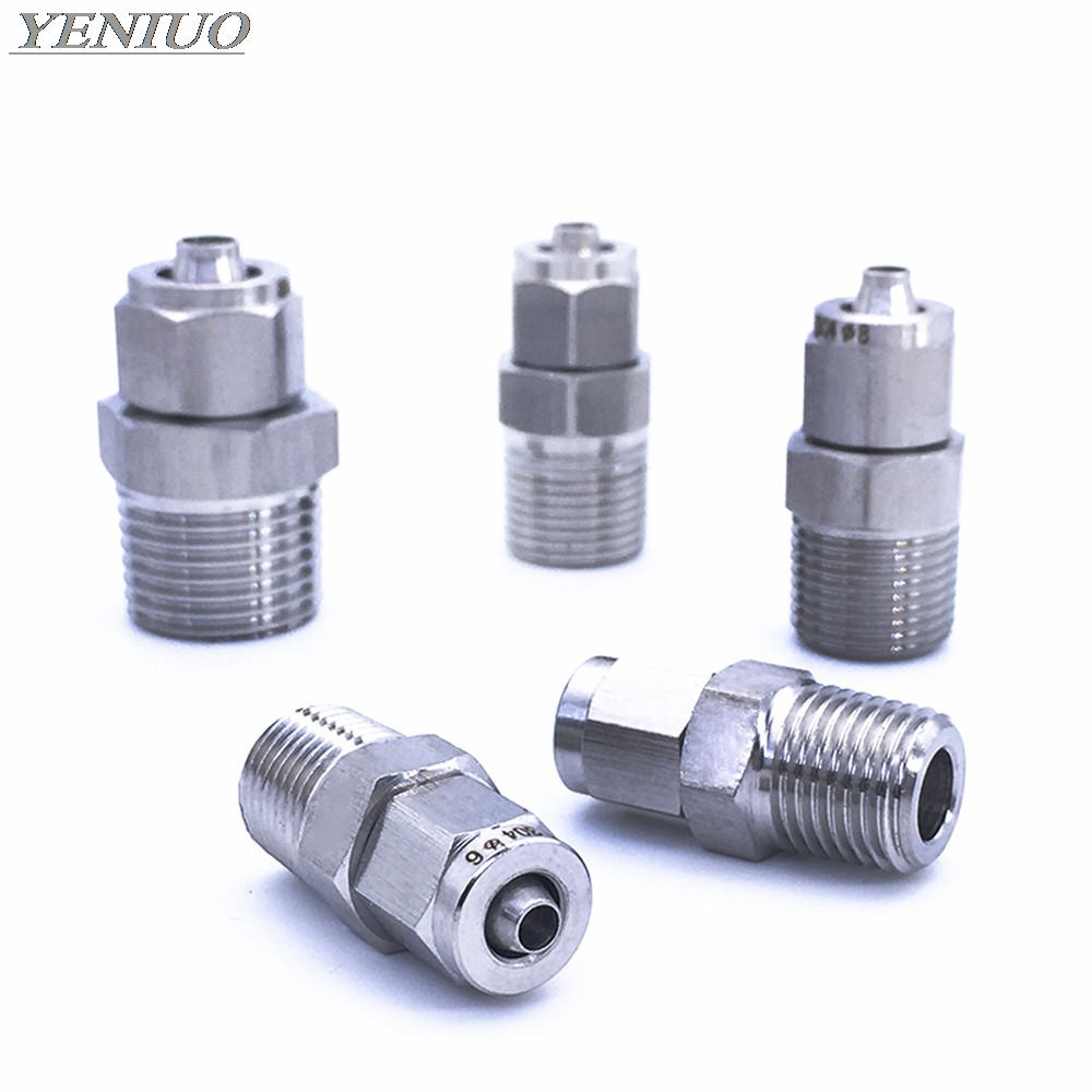 Fast Twist Lock Nut 4mm-14mm OD Tube Stainless Steel SS 304 Pipe Fittings Connector 1/8