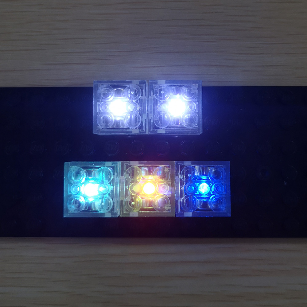 Led 2x2 Lighting  Bricks For Lego Light Up Your Blocks Set