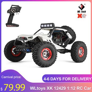 WLtoys XK 12429 1:12 RC Car Crawler 40km/h 4WD 2.4G Electric Car with Head Lights Perfect Equipment RC Off-Road Car Gift Toy Kid 1