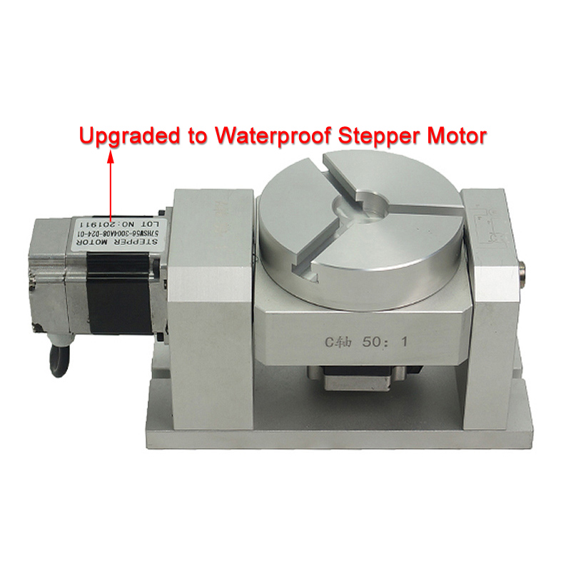 DIY CNC Kits 4th 5th Axis Rotary Axis CNC Dividing Head Harmonic Reducer Cylinder Engraving With Waterproof Stepper Motor