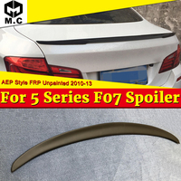 Fit For BMW F07 GT Spoiler P Style Black FRP Unpainted Spoiler Wings 5 series 535i 535iGT 535iGTXD 550GT Trunk Lip Wing 2010 13
