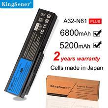 цена на KingSener 10.8V 5200mAh Laptop Battery A32-N61 for Asus N61 N61J N61D N61V N61VG N61JA N61JV M50s N53 N53S N53SV A32-M50 A33-M50