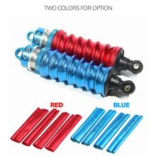 WINOMO 4pcs RM11716BL Shock Absorber Cover Dust-proof 1/8 Off Road Car Truck Buggy Big Foot Truck RC Car Parts (Blue/Red)