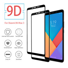 9D Screen Protector Glass For Xiaomi Mi Max 3 Full Cover Screen Film xiami xiaome xiomi xiome xiame mi max3 me3 Tempered Glass(China)