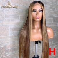 13*6 Remy перуанские 150% Омбре человеческие волосы парики #4/27 Выделите фронта шнурка человеческие волосы парики шнурка прямые волосы Быстрая до...