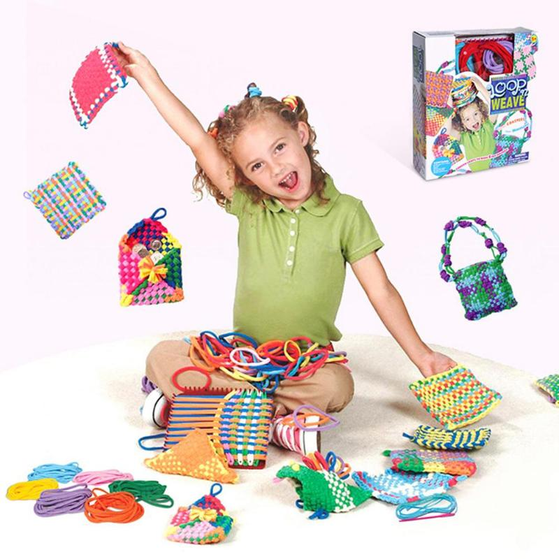 Children Handmade Elastic Rope Loom Kindergarten Girl Toys Kindergartens Use Their Hands And Brains Props DIY Tool
