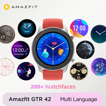 цена на In Stock Global Version Amazfit GTR 42mm women's watches 5ATM Smartwatch 12 Days Battery GPS Music Control For Android IOS phone