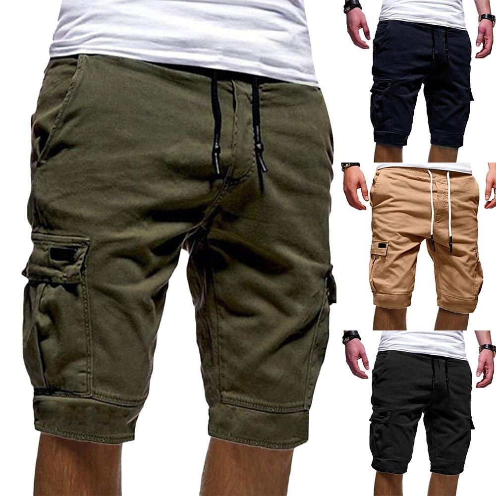 Hot  Mens Cargo Shorts 2019  New Army Camouflage  Shorts Men Cotton Loose Work Casual Short Pants Multi-Pockets Plus Size M-2XL