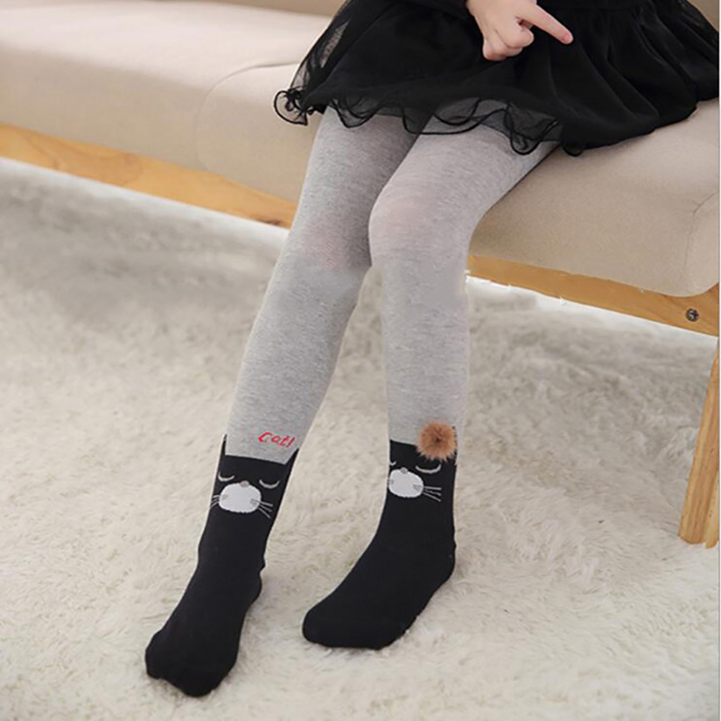 2020 Hot Sale High Quality Winter Fashion Solid Color Children's 100% Cotton Warm Pant Kids Stockings Pantyhose Pantimedias