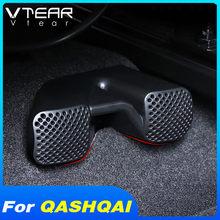 Vtear für Nissan Qashqai J11 Dualis 2 J10 air outlet abdeckung auto zubehör hinten unter sitz interior air vent net rahmen teil 2019 2016 2017 2018 2020