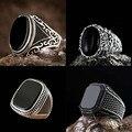 Модное глянцевое мужское кольцо в стиле ретро овальной и черной геометрической формы для годовщины вечерние ринки, свадьбы, мужские кольца,...